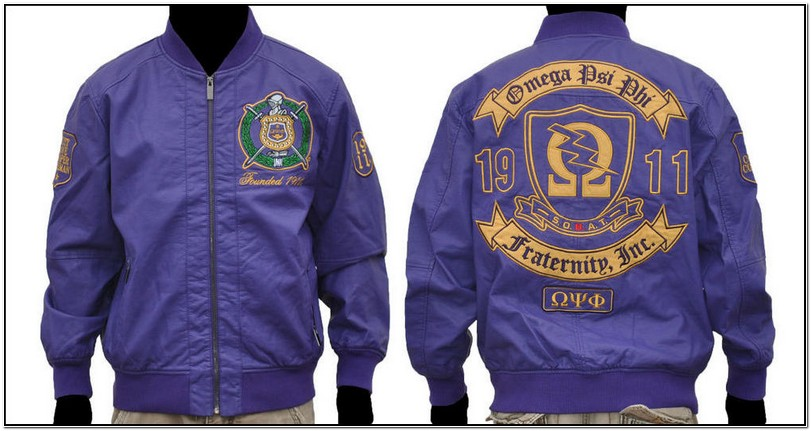 Leather Omega Psi Phi Jacket