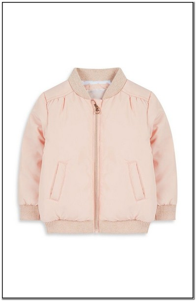 Little Girl Pink Bomber Jacket