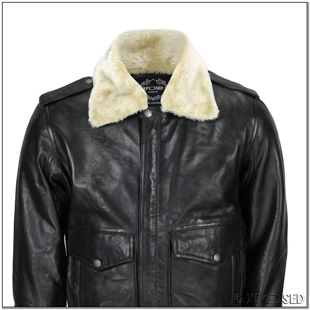 Mens Bomber Jacket With Fur Collar Uk