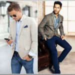 Mens Fashion Sports Jacket And Jeans