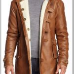 Mens Fur Lined Faux Leather Jacket
