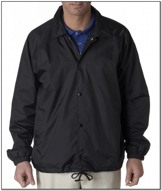 Mens Nylon Windbreaker Jacket With Hood
