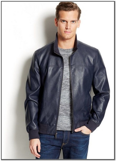 Michael Kors Mens Leather Jacket Macys