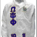 White Omega Psi Phi Jacket