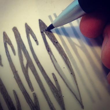 handlettered, lettering, greek lettering