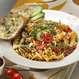 Tomato and Cucumber Pasta