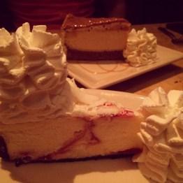 CF: White Chocolate Raspberry & Salted Caramel Cheesecake