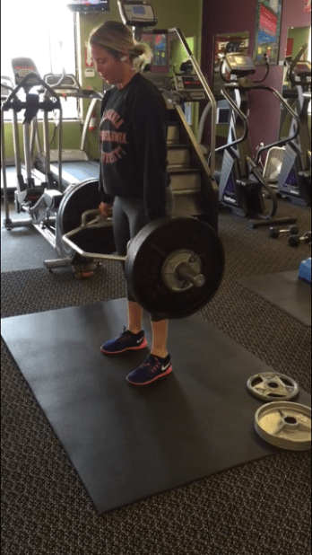 Hex Bar Deadlifts: 245 lbs. I could never have done this a year ago... Progress.