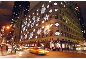 Saks Holiday lights