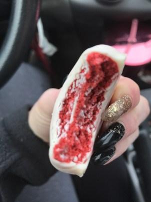 Inside look at the Red Velvet flavor... my favorite