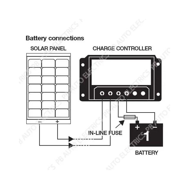 Dual Battery Solar Charge Controller 20Ah for 12v or 24v
