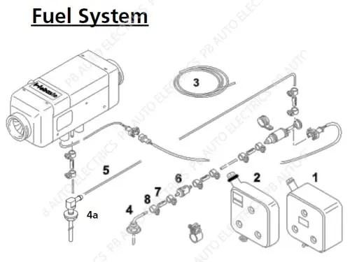 Webasto Air Top 2000 STC 12v Universal Heater Kit Diesel