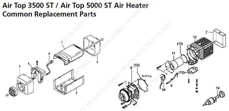 Filled Heater Replacement Parts Motor Repalcement Parts And Diagram