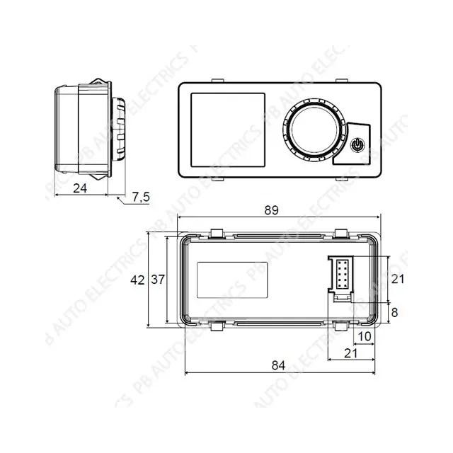 Webasto UniControl 1531 Air & Water Heater 7 Day Timer