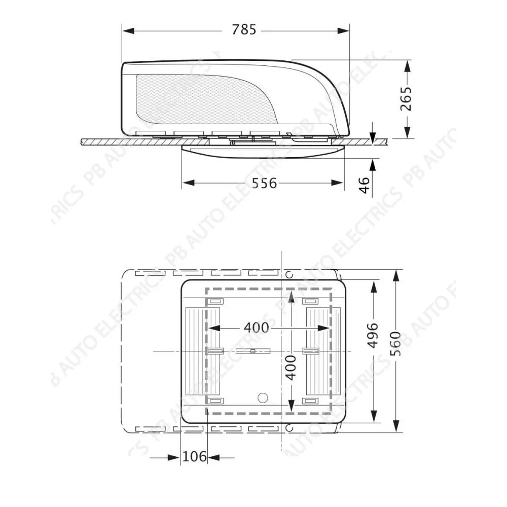 medium resolution of truma aventa compact air conditioning unit for vans and motorhomes diagram