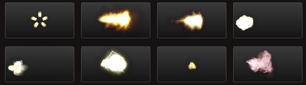 Free Action Elements: Muzzle Flashes