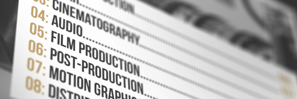 Filmmaking Book Table of Contents