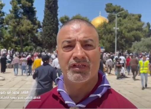 أبو صوي: نحو 1000 عضو من المجموعات الكشفية المقدسية تشرف على النظام في الأقصى خلال شهر رمضان