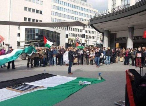 بلجيكا: الجالية الفلسطينية تطالب الحكومة البلجيكية بالضغط على إسرائيل لوقف عدوانها