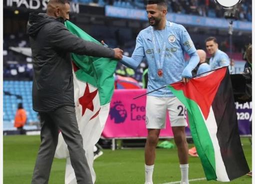 بالصور – هكذا احتفل النجم الجزائري رياض محرز بتتويج فريقه بلقب الدوري الإنجليزي