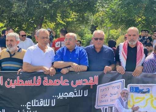 مسيرة دعم وإسناد لأهالي حي الشيخ جراح بالقُدس المحتلة