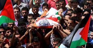 تشييع جثمان الشهيد بني شمسة في بلدة بيتا
