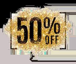 50% off image
