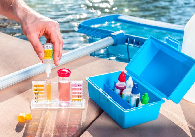 Pool maintenance for the upcoming summer season.