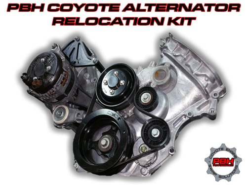 small resolution of coyote swap alternator relocation kit