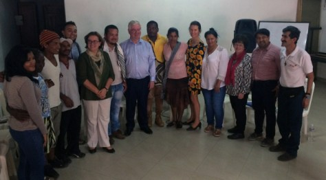 Eamon Gilmore, the EU Special Envoy for the Peace Process in Colombia visited the region of Urabá