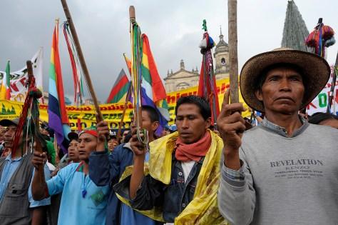 La Minga Indigena en Colombie
