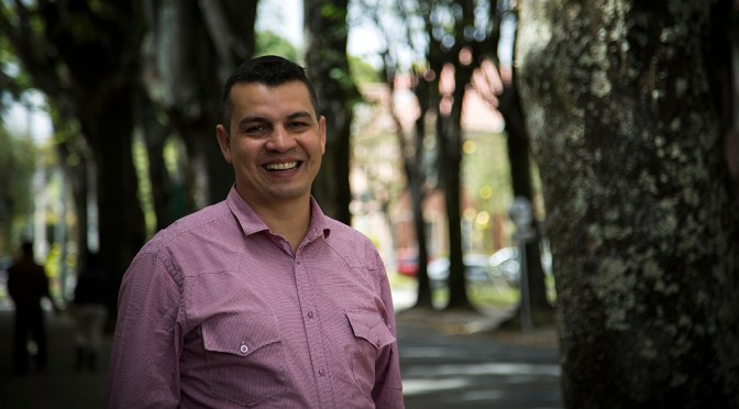 """If I was prepared to die I wouldn't be working as a human rights defender"": Fabián Laverde"