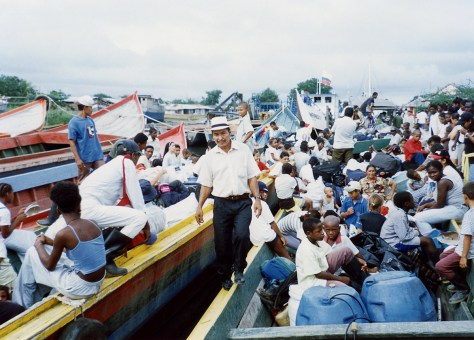 En 2000 una chalupa entró con el primer grupo de retornados.