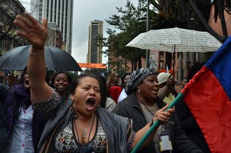 marcha afro bogotá 2011, fotos por Julián Montoni