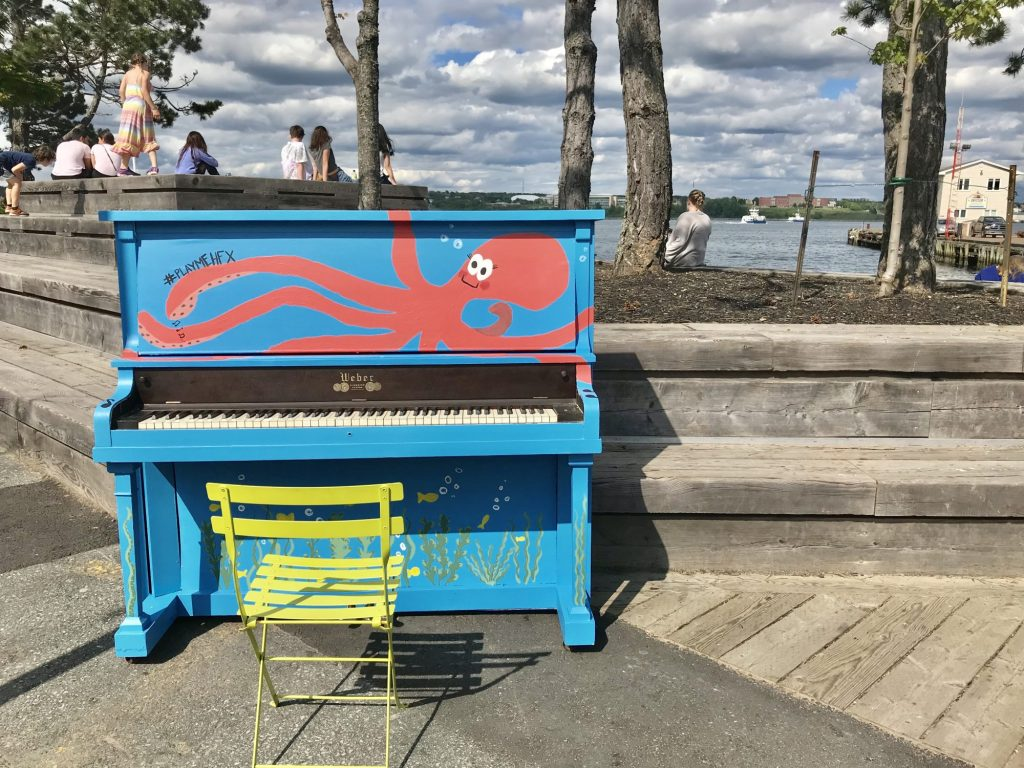 Public Piano On Halifax Waterfront