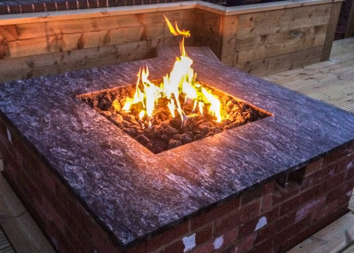 Bespoke Fire Pit by Builders in Newbury