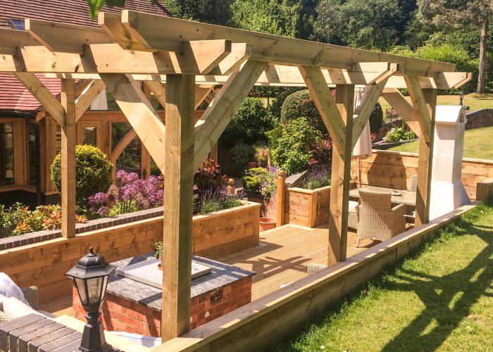 Pergola by Builders in Newbury