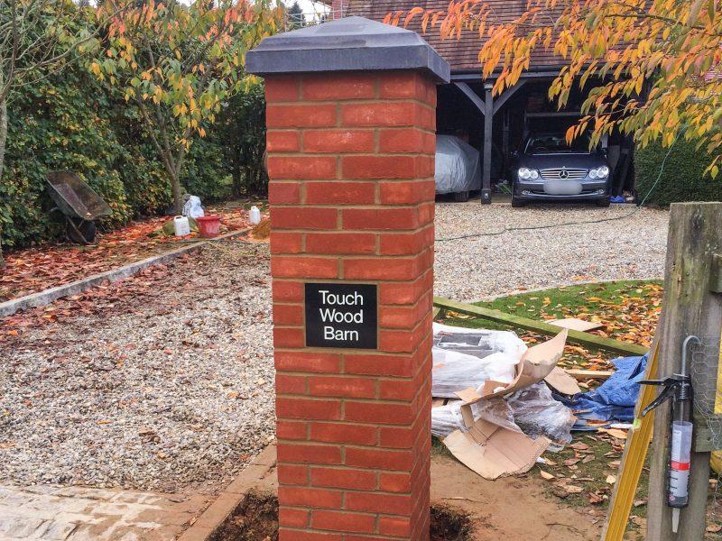 Gate Brick Pillar by Builders in Newbury