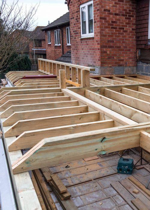 Hand-Cut Roof by Builders in Newbury