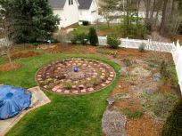 Partially Mulched Garden