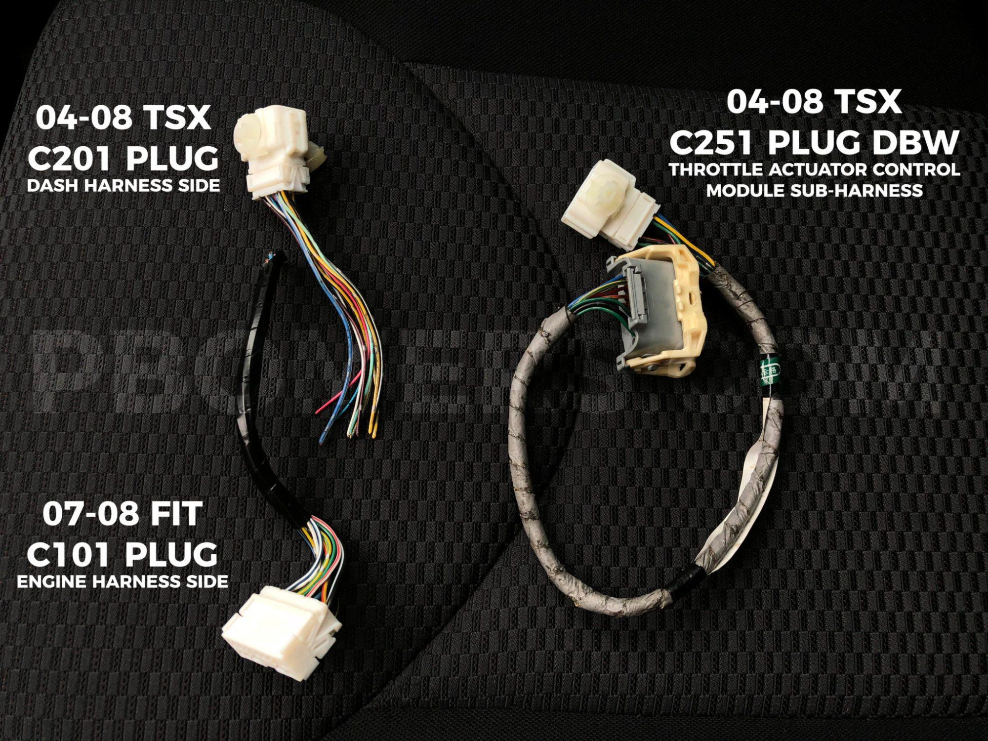 hight resolution of k20k24 honda fit wiring plugs
