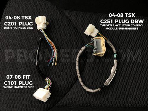 small resolution of k20k24 honda fit wiring plugs