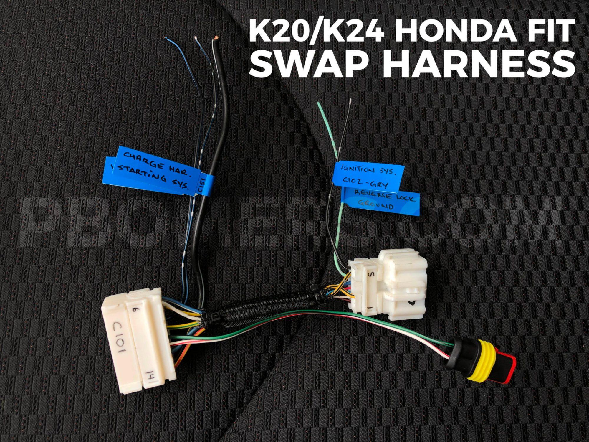 hight resolution of k20 k24 honda fit dash wiring harness
