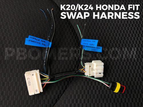 small resolution of k20 k24 honda fit dash wiring harness
