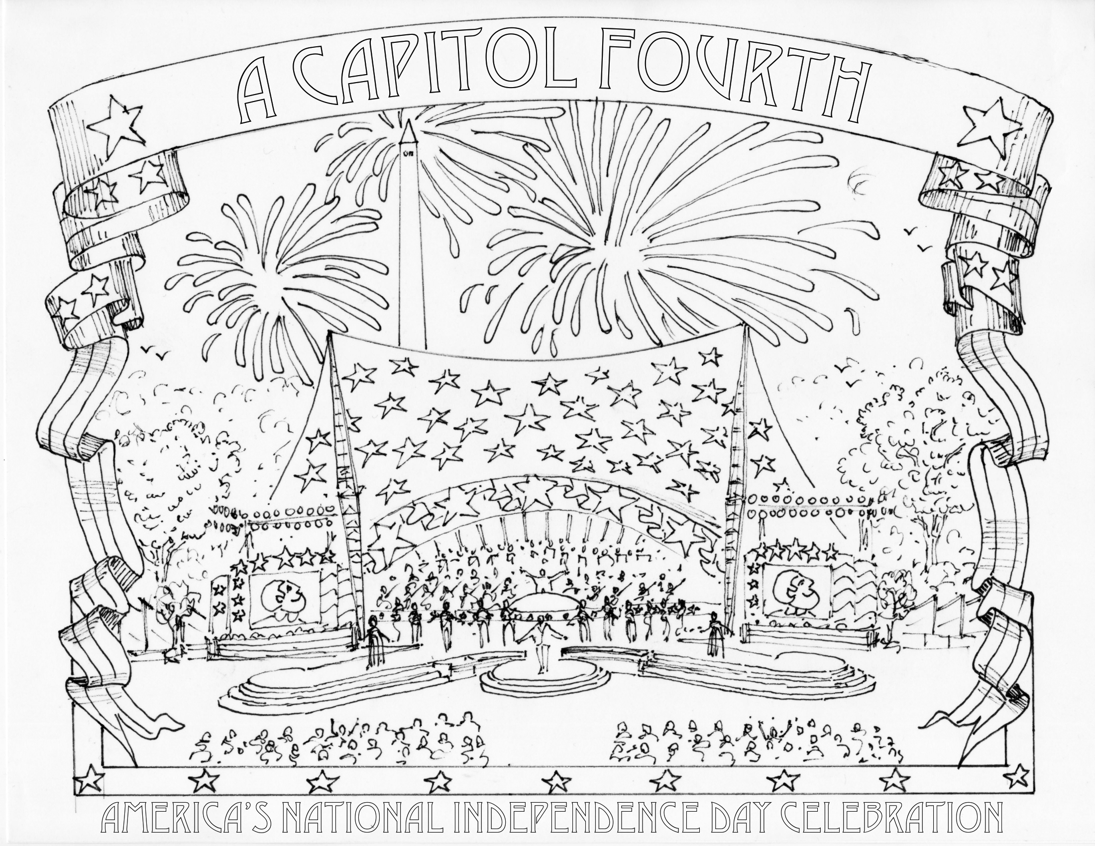 Capitol Building Washington Dc Coloring Page