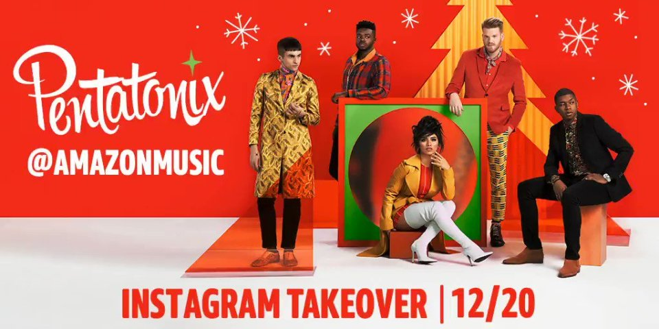 Image for the Tweet beginning: Pentatonix will be taking over