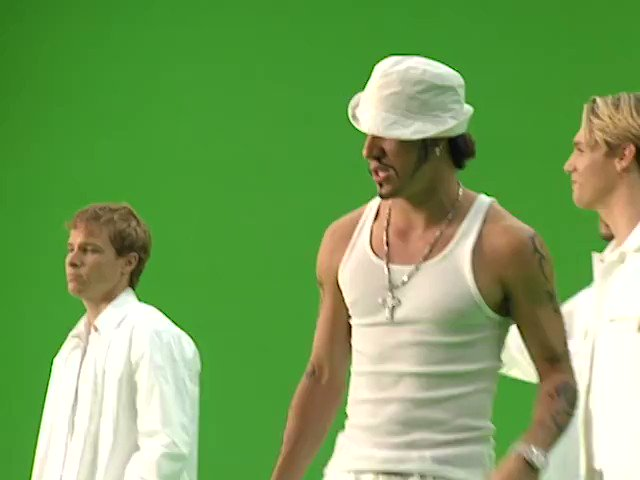 Image for the Tweet beginning: This BTS @backstreetboys clip is