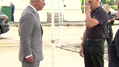 Watch Moment Asda employee faints in front of Prince Charles