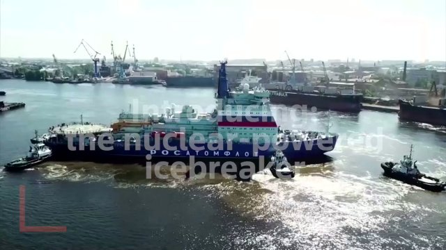 Image for the Tweet beginning: Russia's nuclear-powered icebreaker sets off