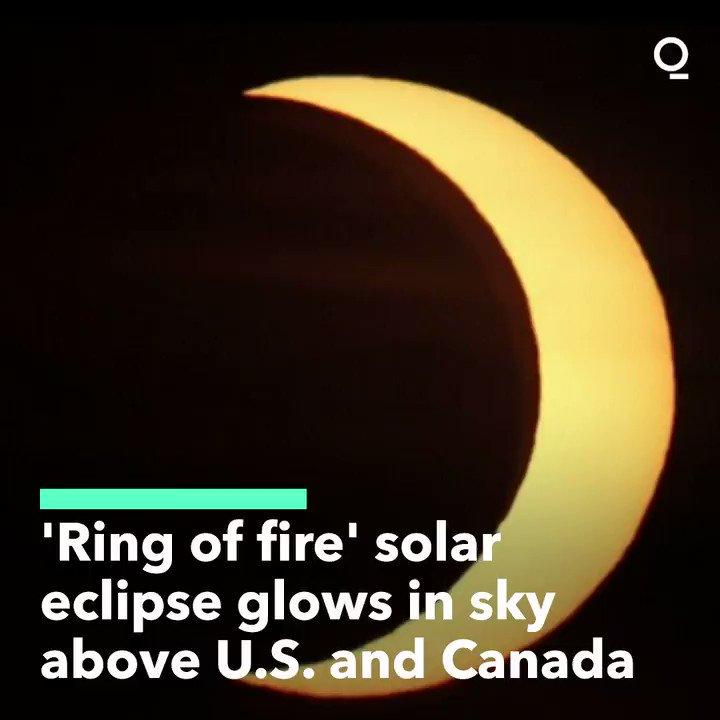 Deserves a retweet from my profile  #RingOfFire #Eclipse2021 #SolarEclipse #PartialSolarEclipse